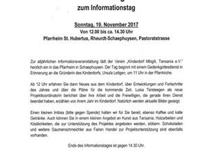 Einladung zum Informationstag
