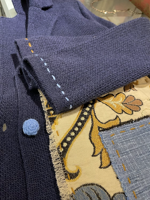 Giacca maglia patchwork