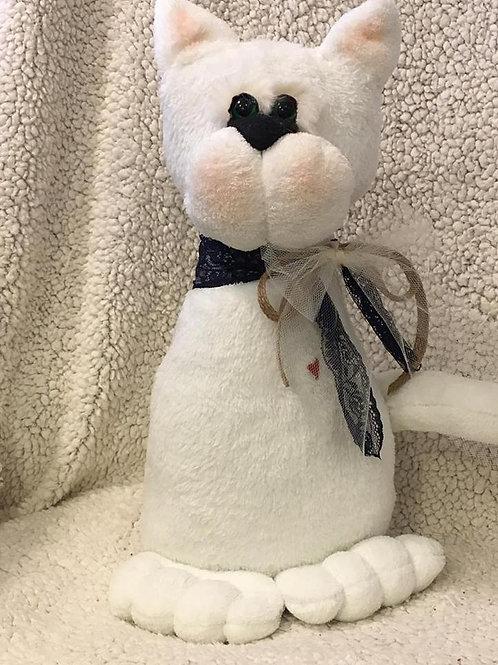 Fermaporta gatto bianco