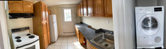 Kitchen with lots of cabinet space.