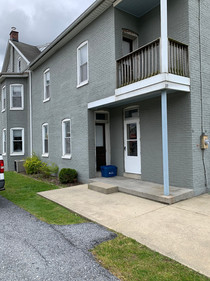 Rear entrance and porch
