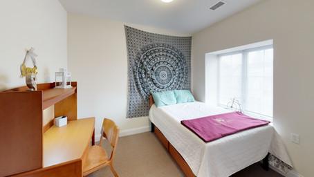 Furnished bedrooms.