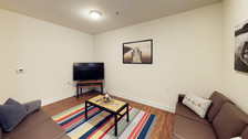 Furnished living room.