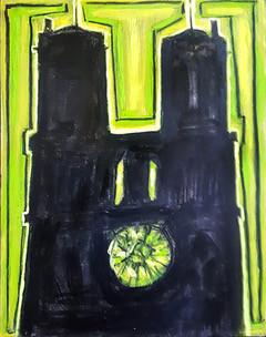 ROLL Alain-Notre Dame-huile-100x81cm