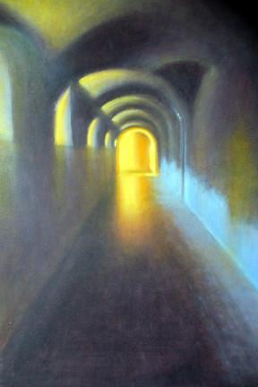 MARDUEL Lucien-Le fond du couloir-huile-