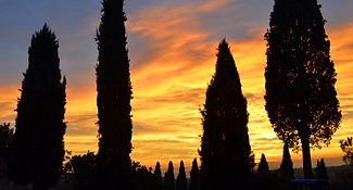 Sunset at Il Palazzone in Montalcino, Tuscany, Italy