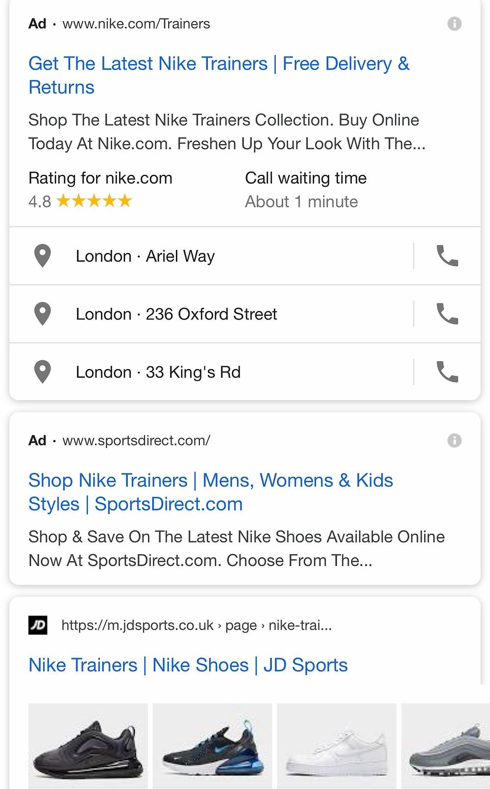 Google mobile SERP