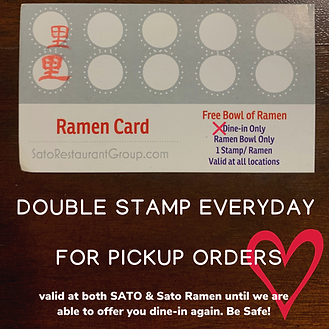 double stamp everyday for pickup orders.