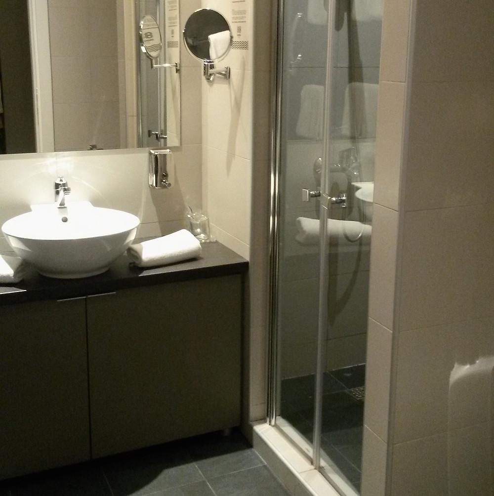 bathroom at 88 rooms hotel in Belgrade