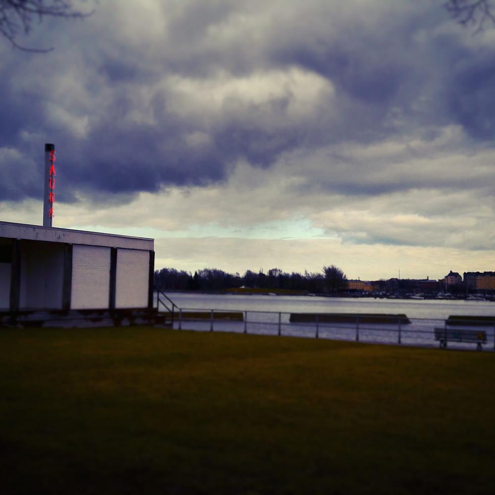 finnish sauna by the water in helsinki