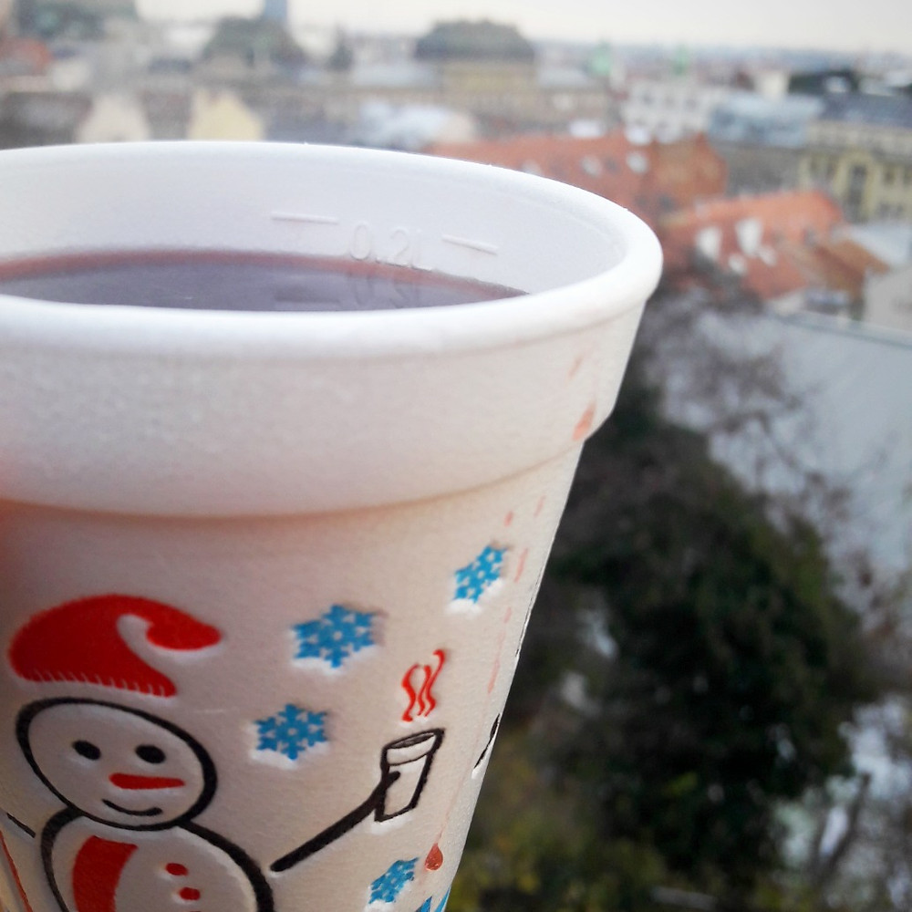 Mulled wine overlooking Zagreb during Advent