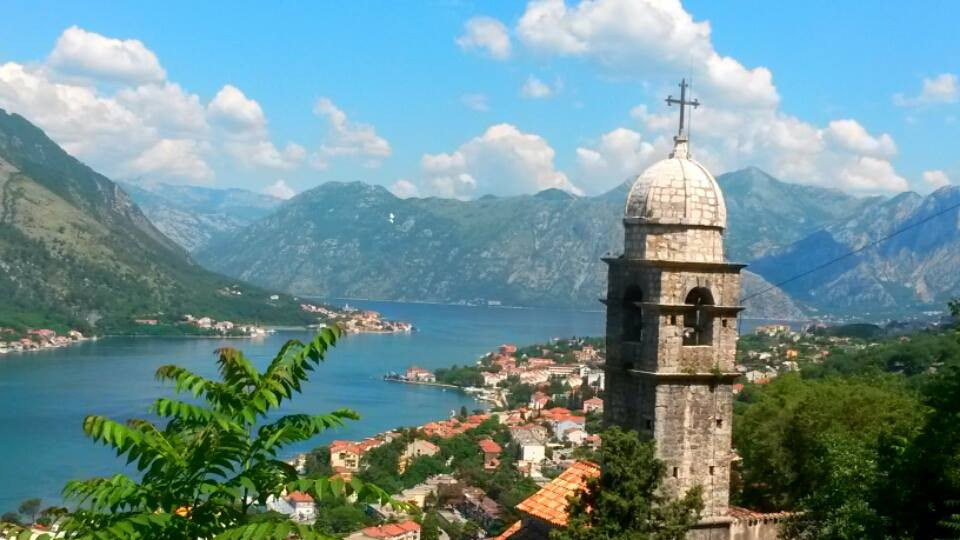 Bay of Kotor from above