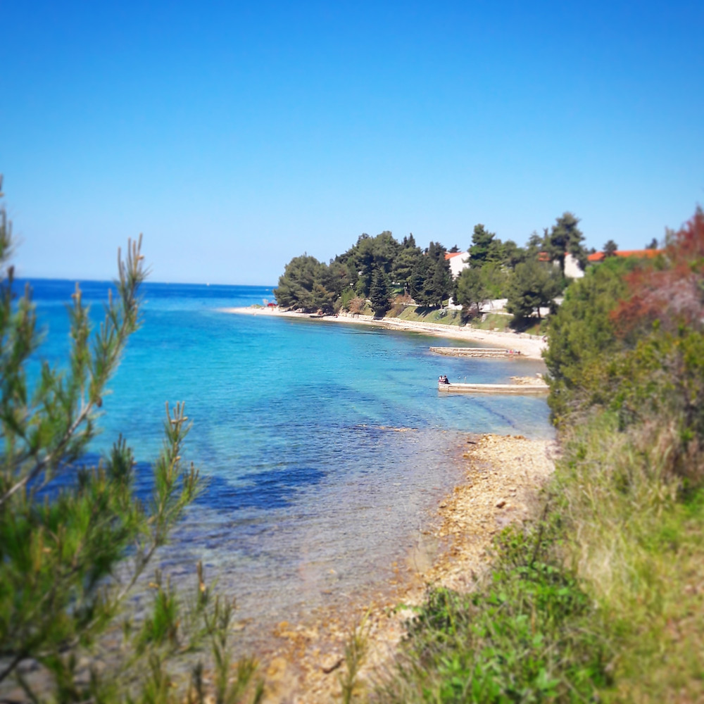empty beach near to Zadar