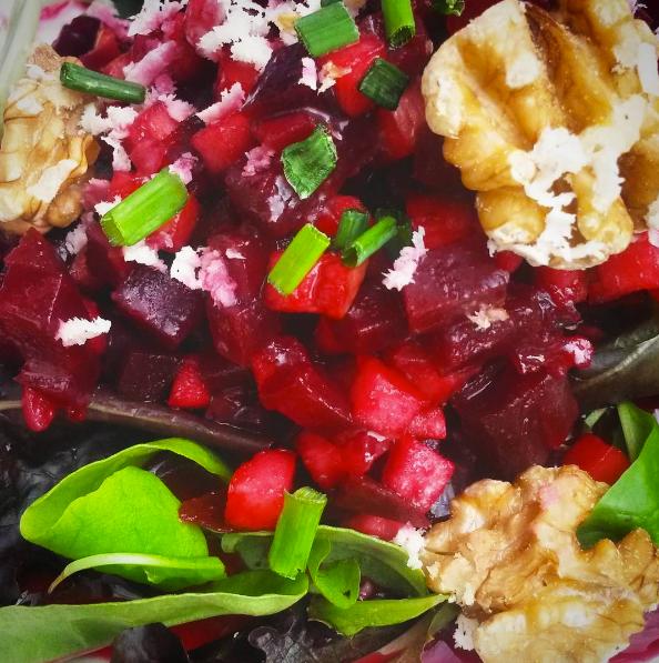 beetroot, apple & walnut salad at PICNIC, Munich