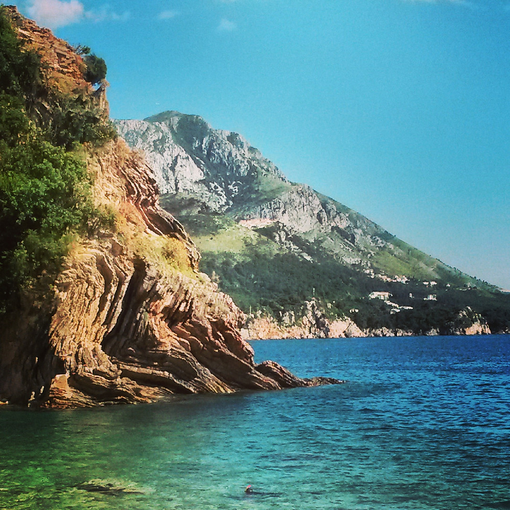 little cove in Becici, Montenegro