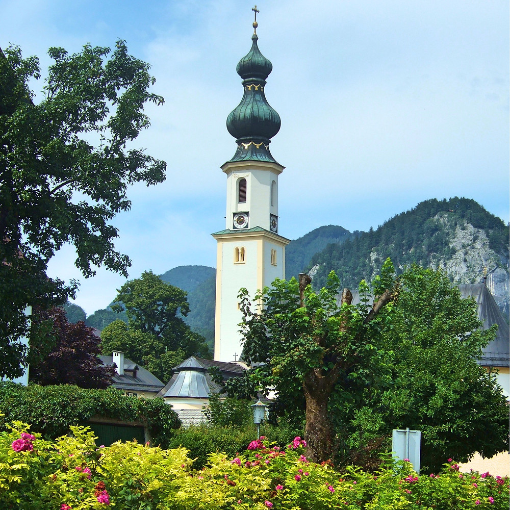 village church in the Salzkammergut