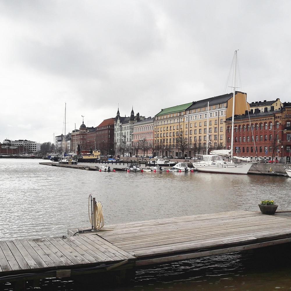 Helsinki in the rain