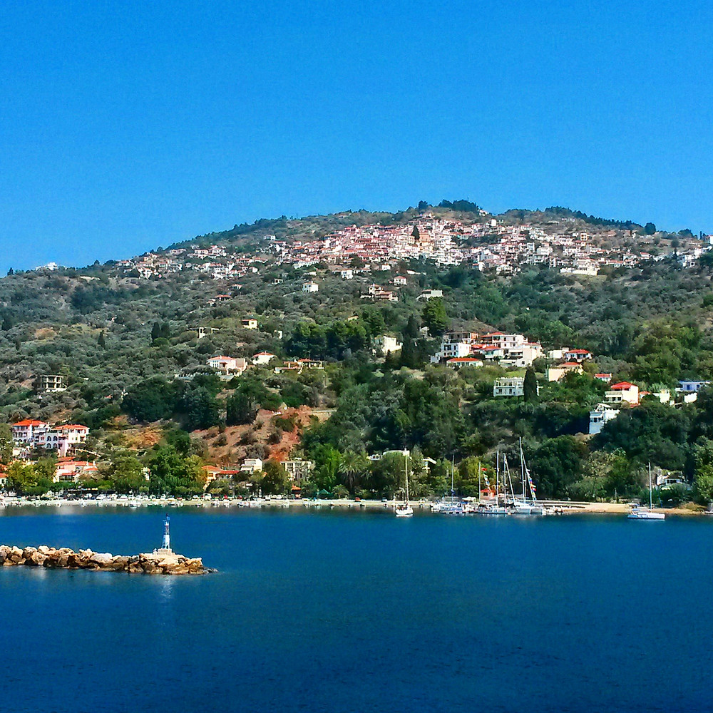 glossa village, skopelos