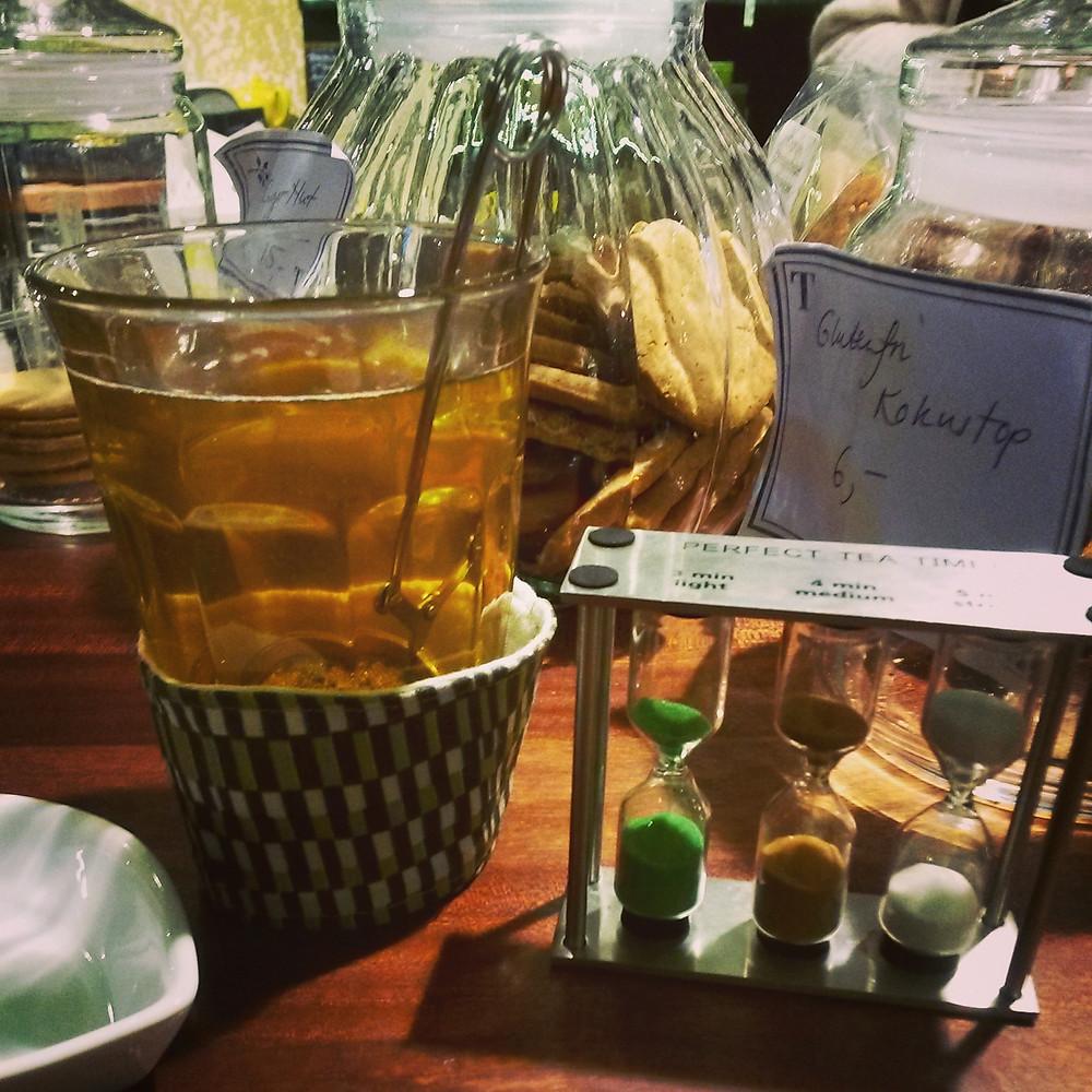 Tea at Tante T Tea Bar in Torvehallerne, Copenhagen
