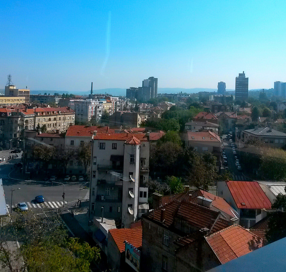 view from breakfast room at 88 rooms hotel in Belgrade