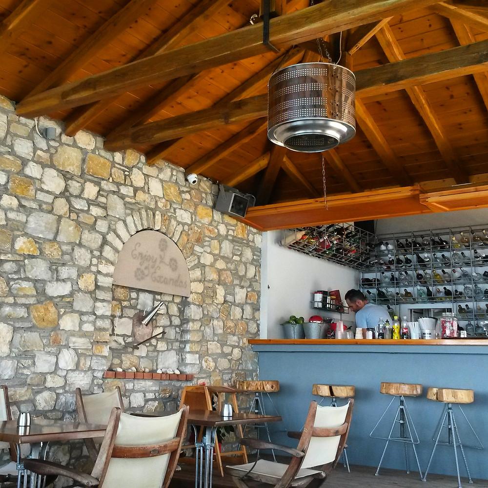 Exandas bar and restaurant, megaliamos, Skaithos