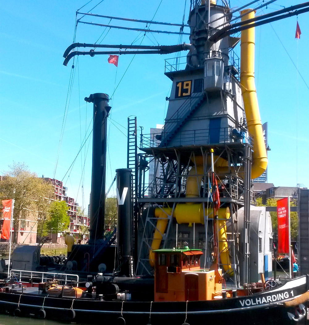 boat at maritime museum in rotterdam