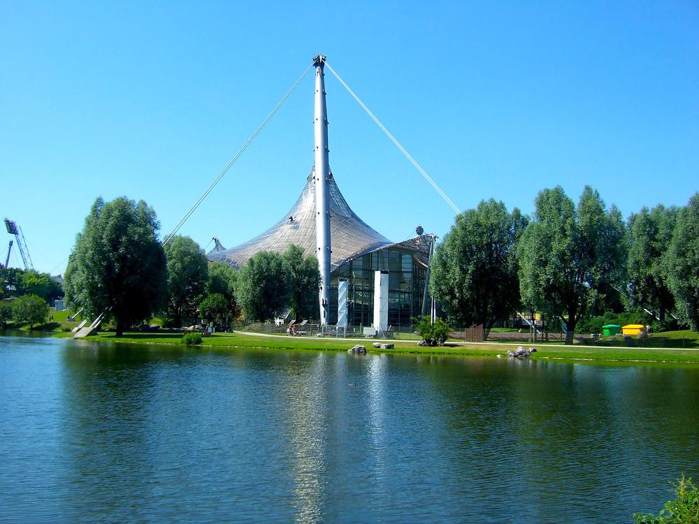 olympiapark in munich in summer