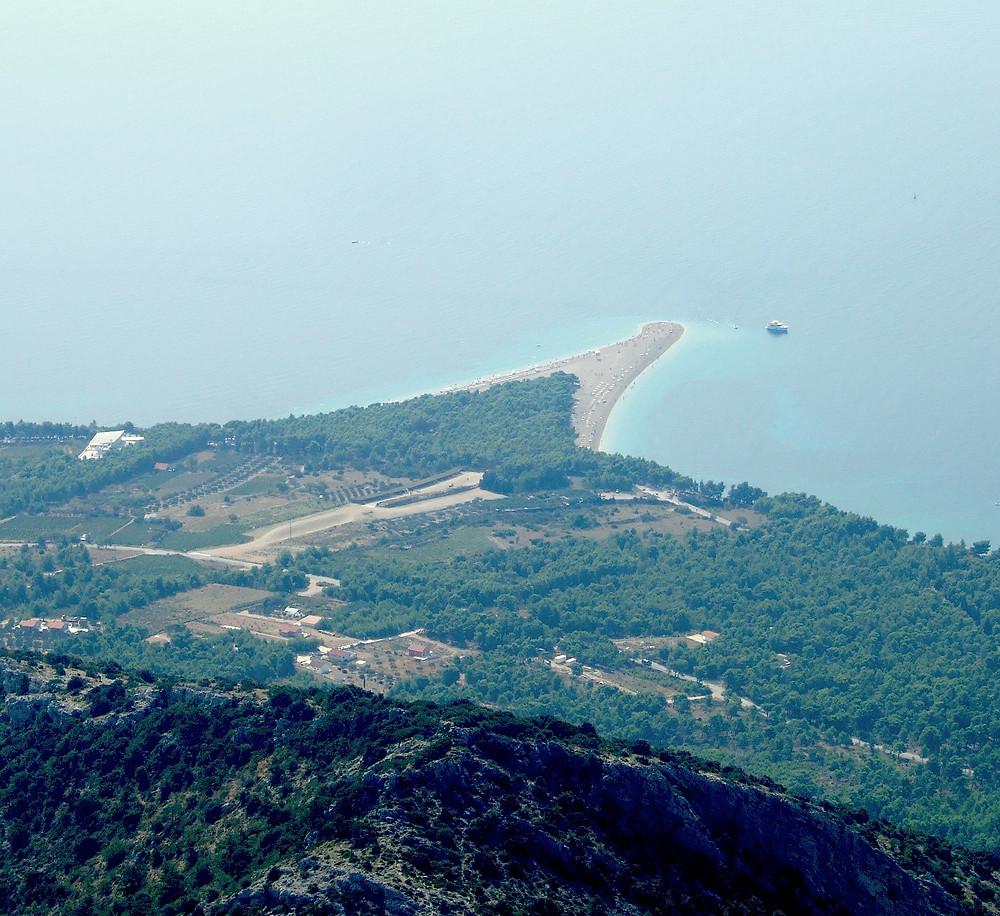 Zlatni Rat beach from above