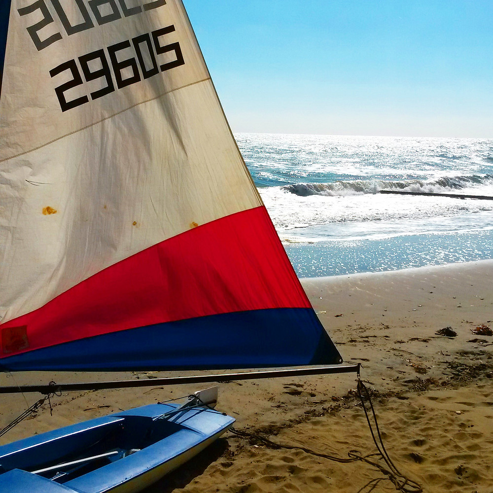 windsurf on the beach in sandown isle of wight