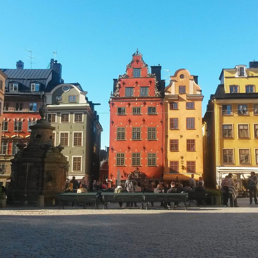 Stortorget square gamla stan stockholm