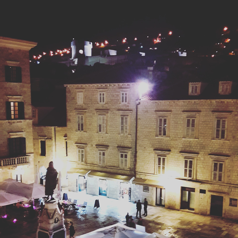 fresh sheets kathedral dubrovnik view from bedroom at night