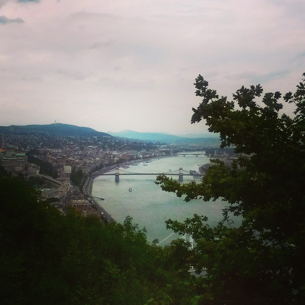 view from Géllert Hill in budapest