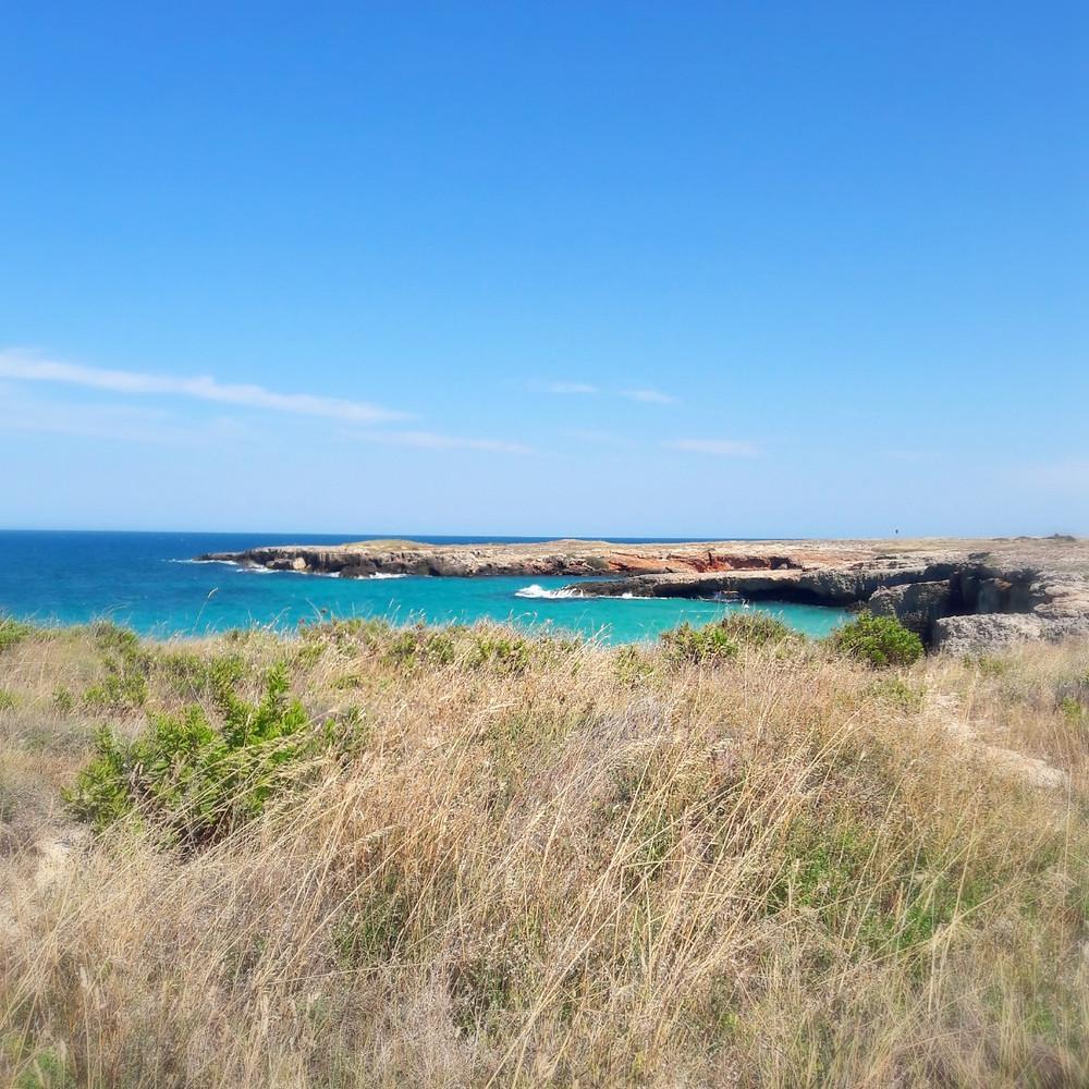 Rocky coastline near Monopoli