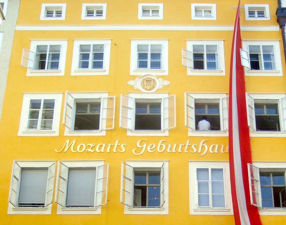 Mozart's geburtshaus, place of birth