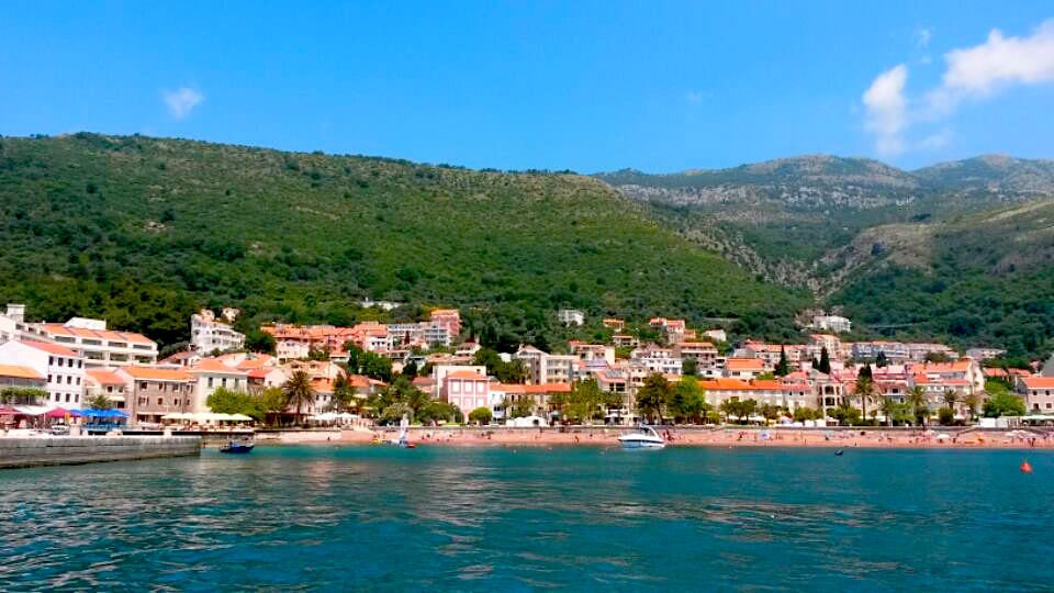 View of Petrovac from a boat