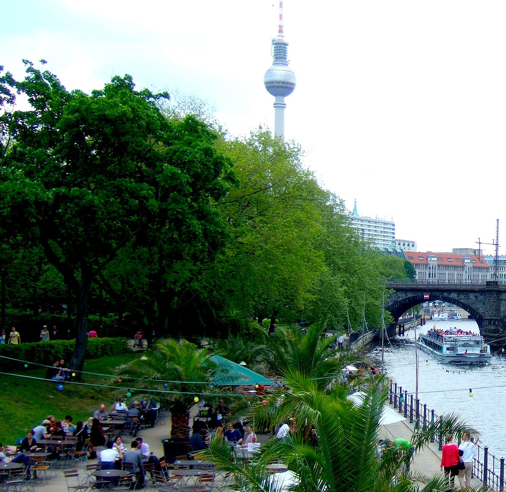 down by the river spree in berlin mitte