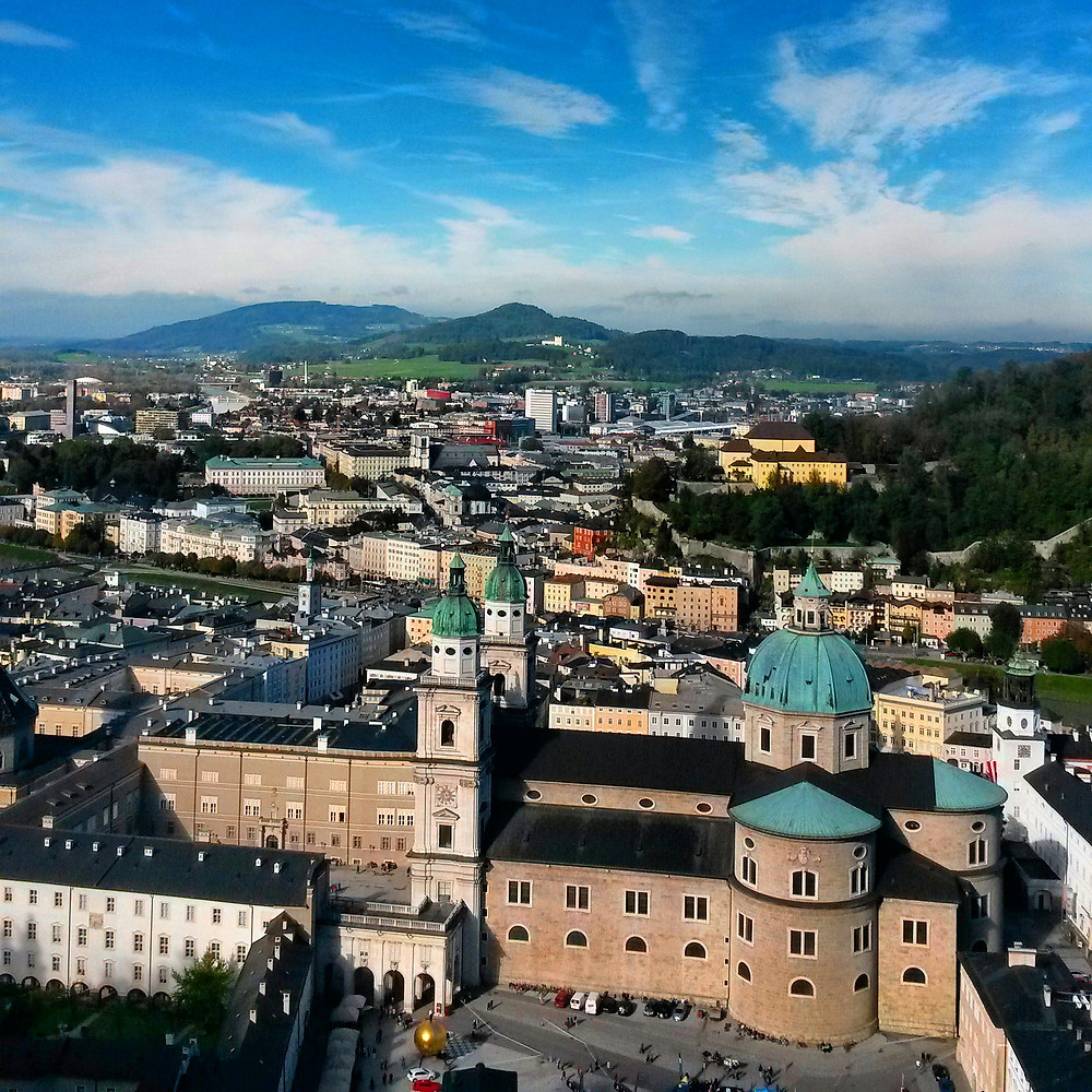 View of Salzburg city from Salzburg fortress