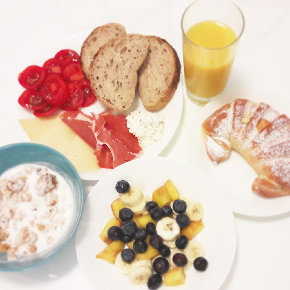 breakfast made from Zadar market produce