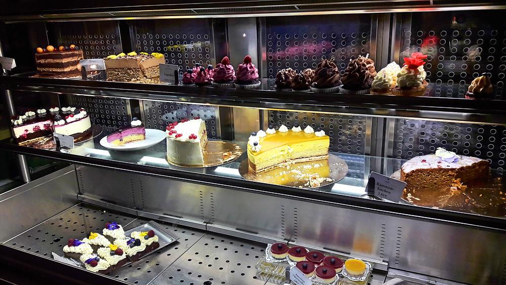 cakes on display at Liebes Bisschen