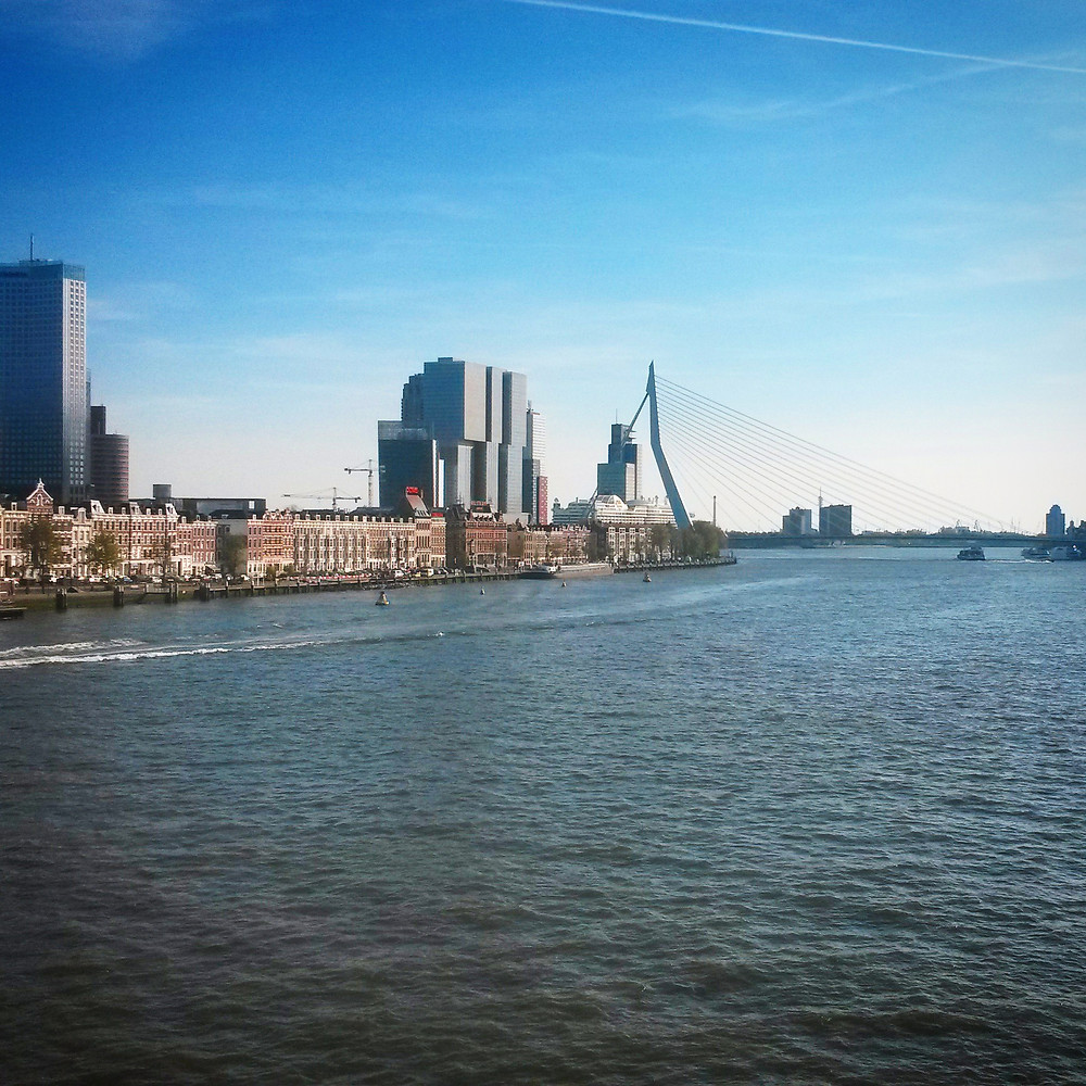 view of rotterdam from willemsbrug