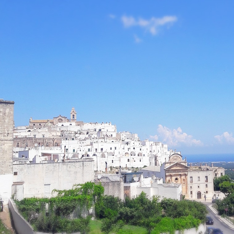 Ostuni viewpoint of the town
