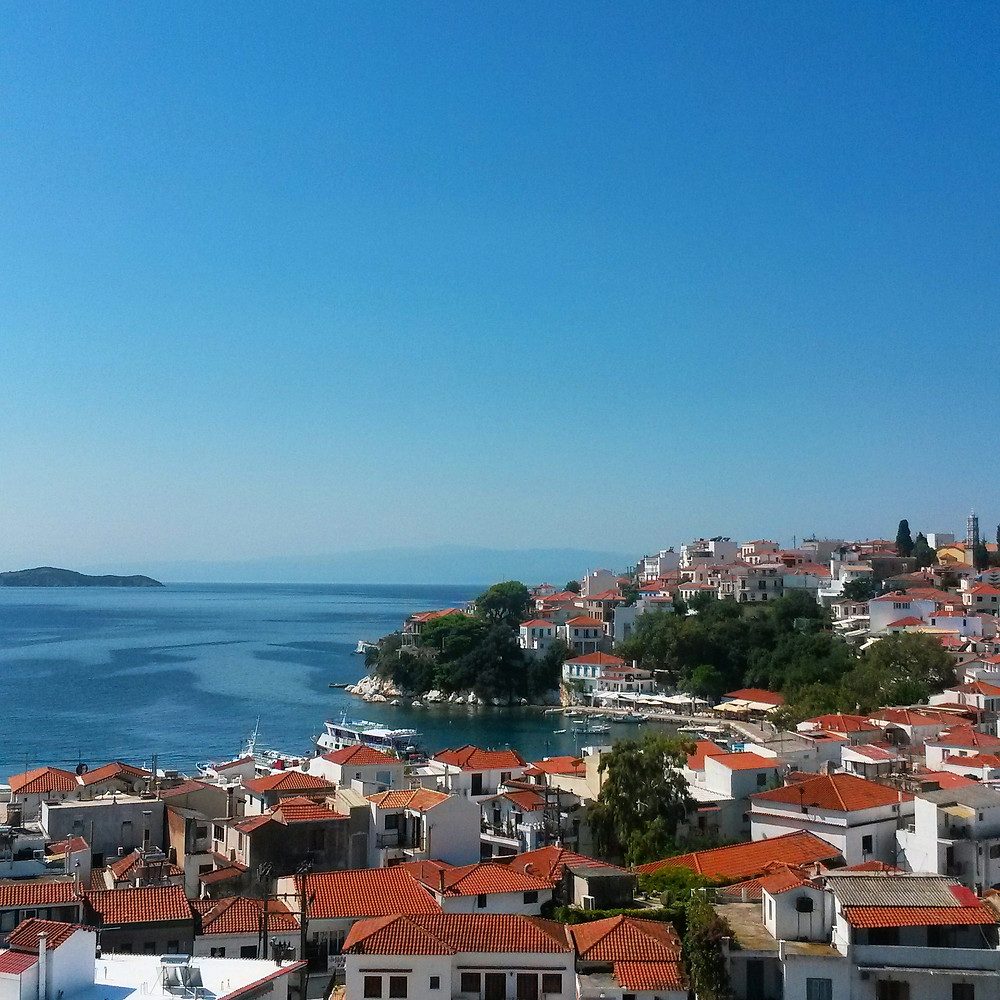 Skiathos town from above