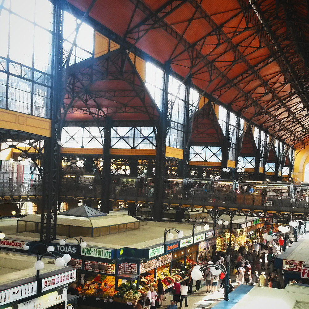 interior of the great market hall in budapest