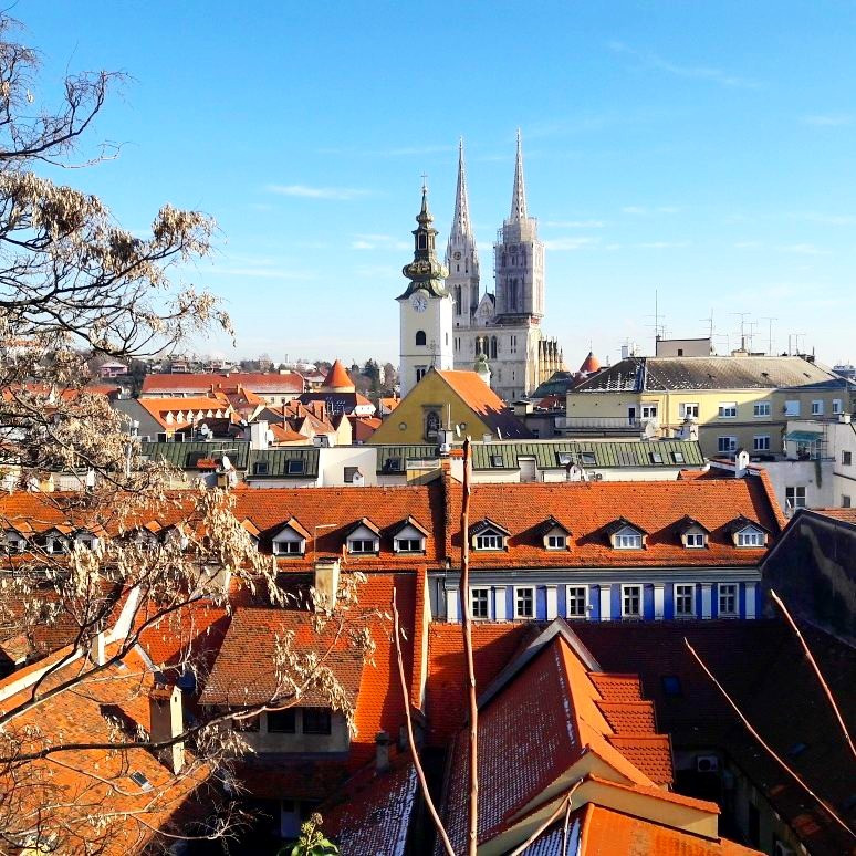 View of Zagreb from the Upper Town