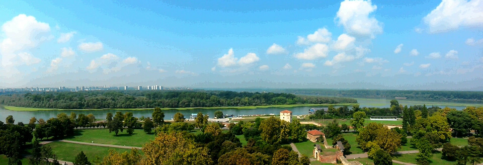 view of the river from belgrade fortress