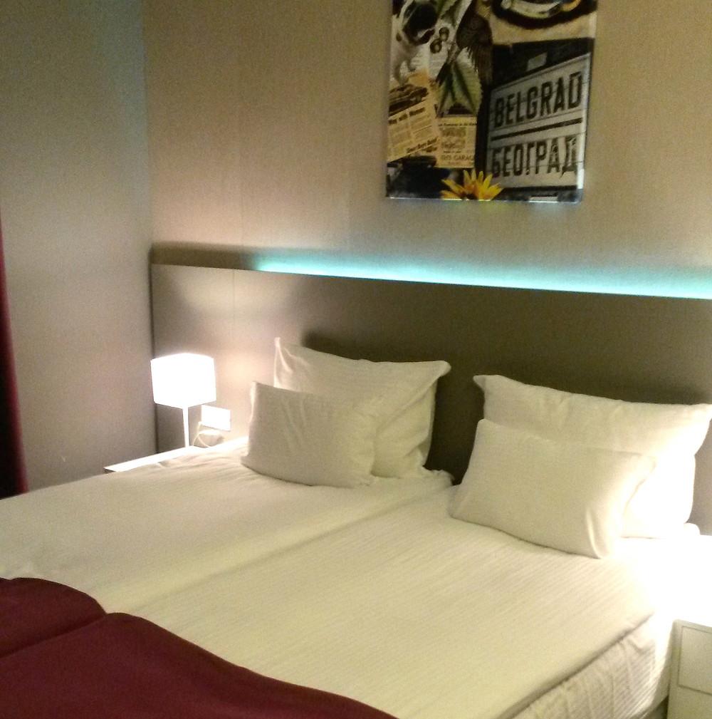 bedroom at 88 rooms hotel in Belgrade