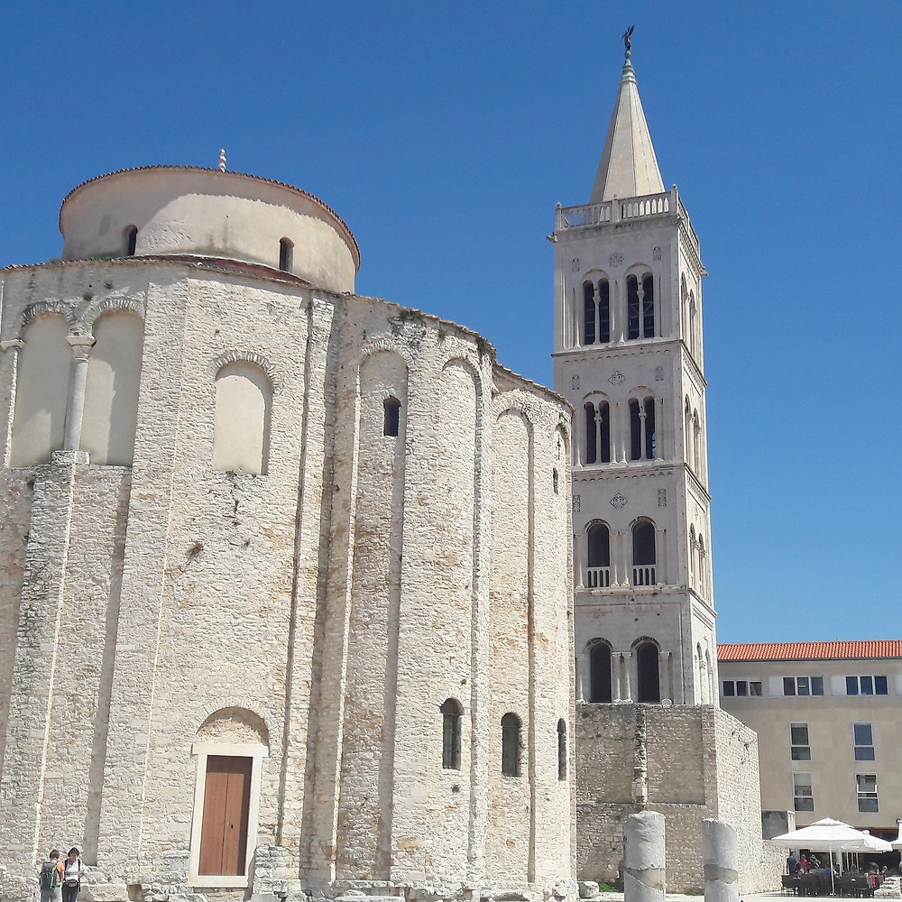 Zadar old town and roman ruins