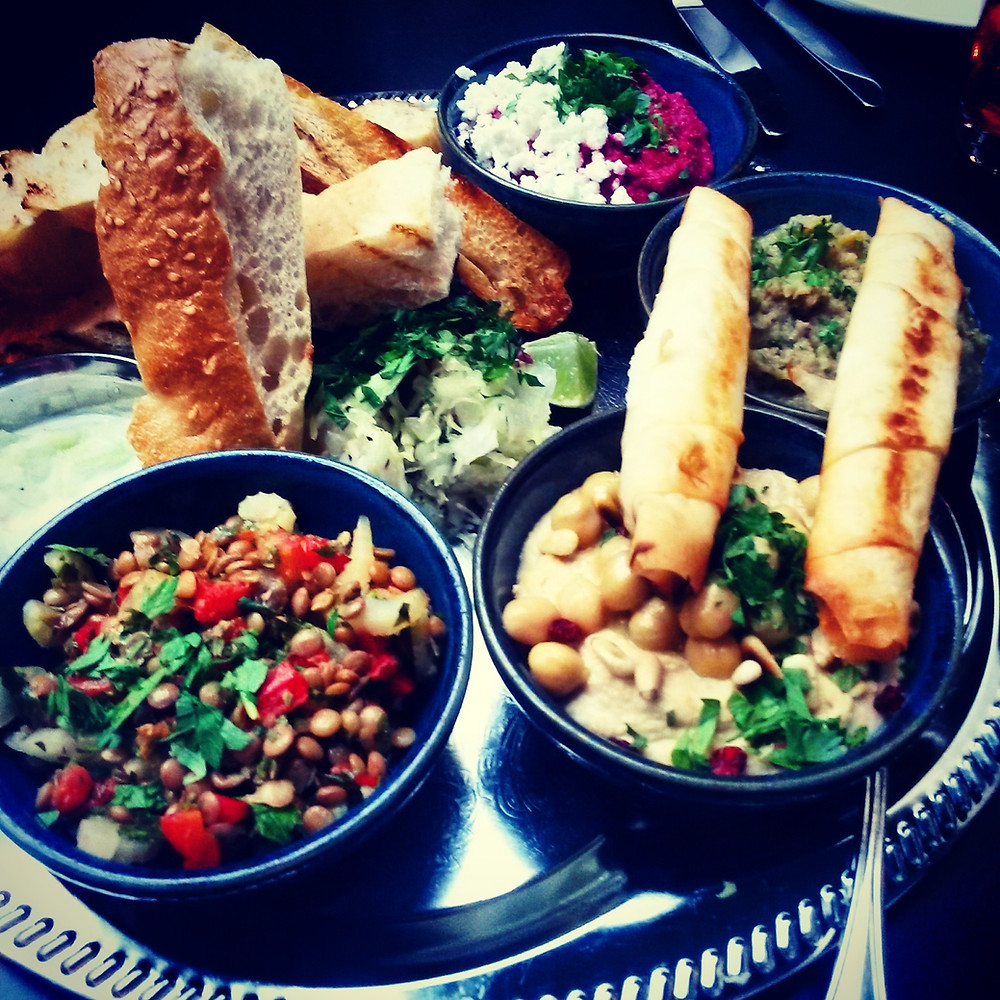a selection of mezze at kismet in munich