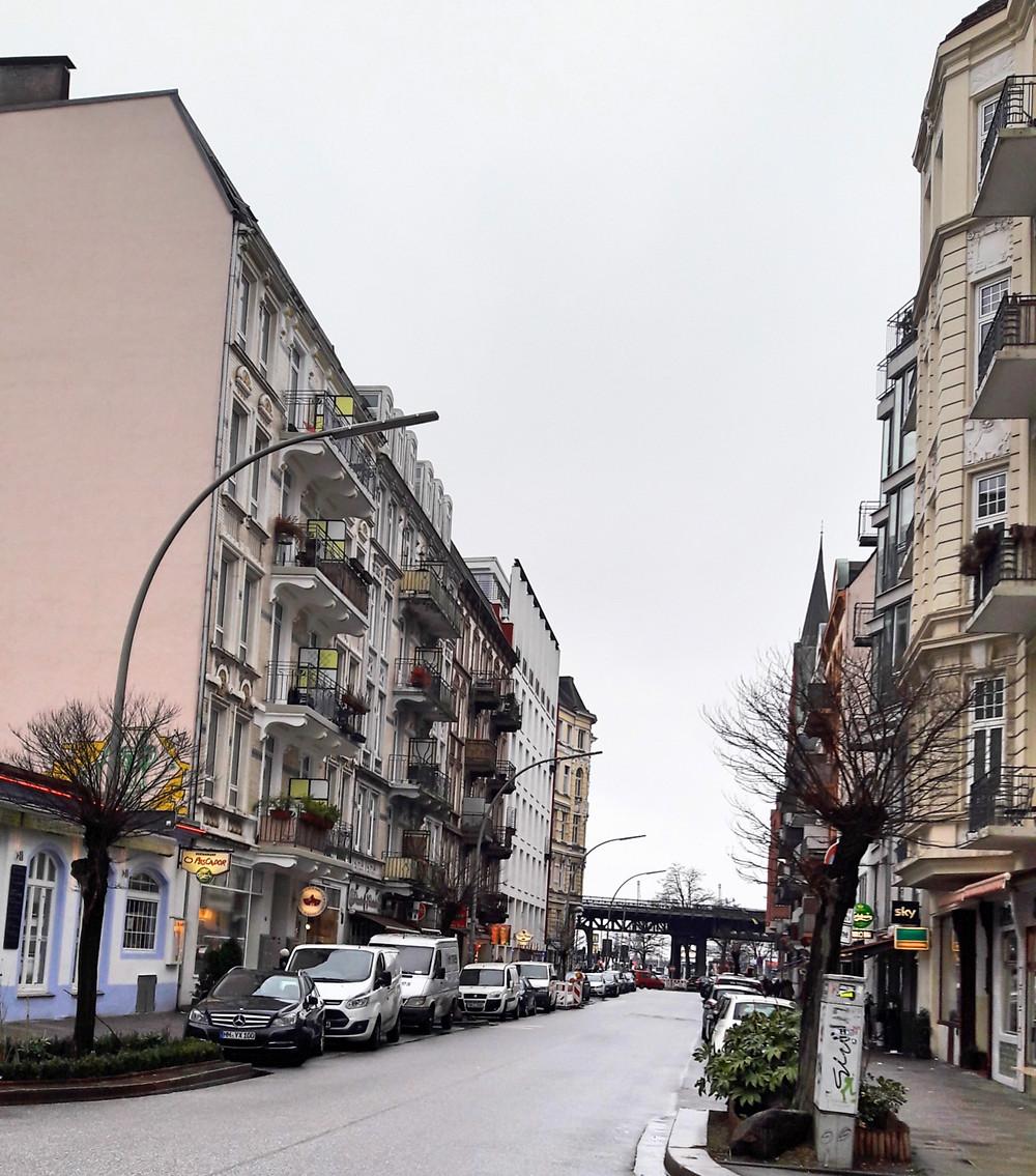 streets in Portuguese quarter in Hamburg