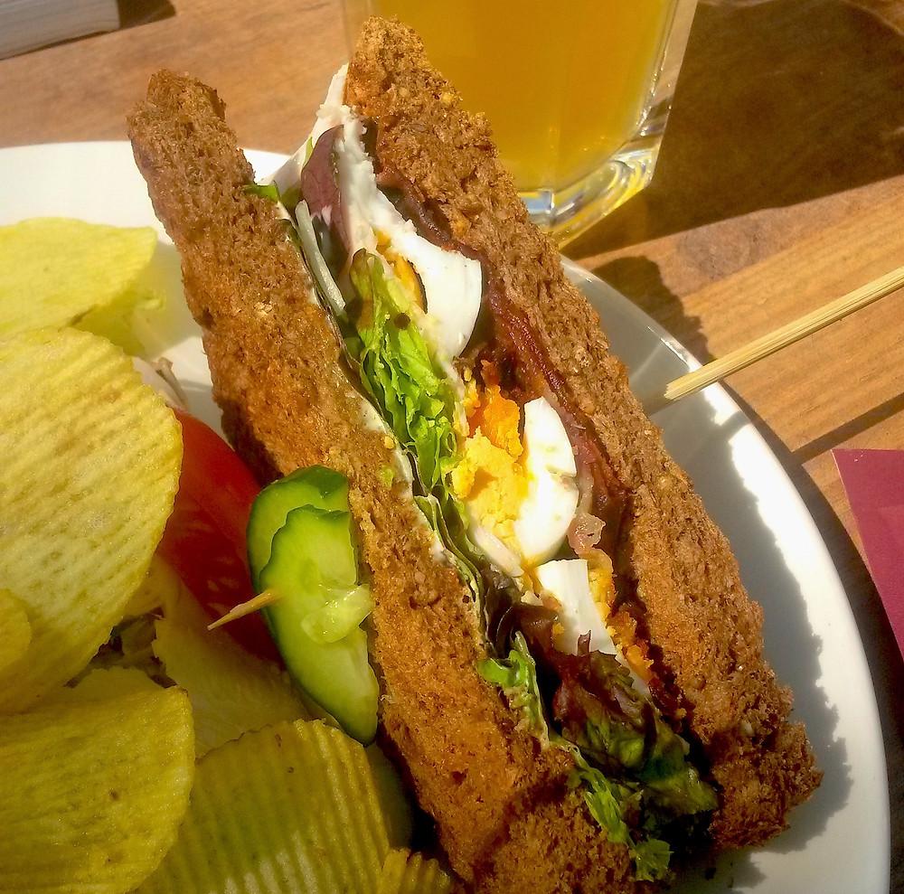 club sandwich Cafe Belvedere, Delft